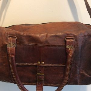 nick   niche Bags - Handcrafted genuine leather travel bag 💼 e89aa449178a1